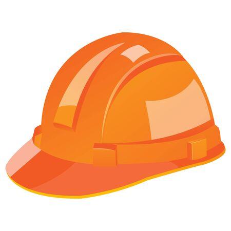 roadways: illustration of under construction helmet on white background