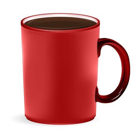 illustration of coffee mug on white background Vector