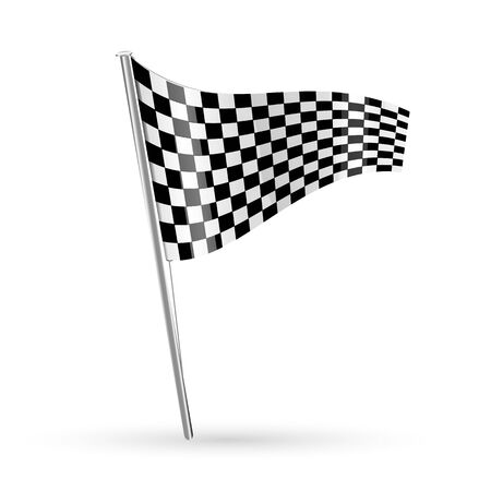 motorsport: illustration of racing flag on white background Illustration