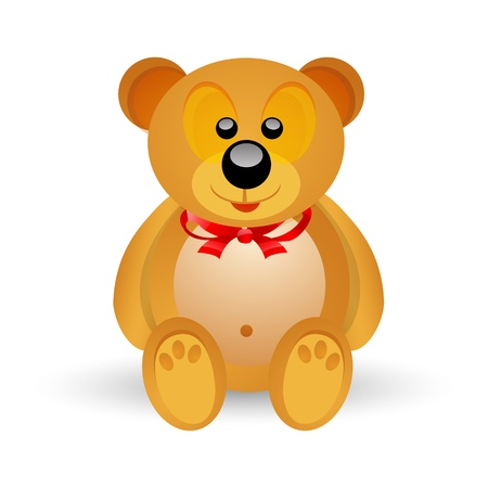 illustration of teddy bear on isolated background Vector