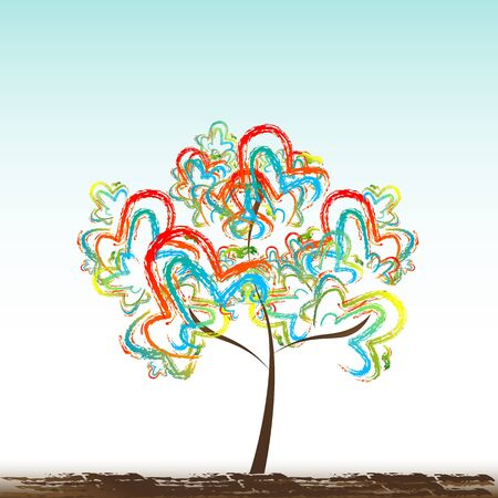 illustration of abstract tree on isolated background Stock Vector - 9269598