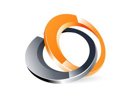 loghi aziendali: illustrazione del logo su sfondo bianco Vettoriali