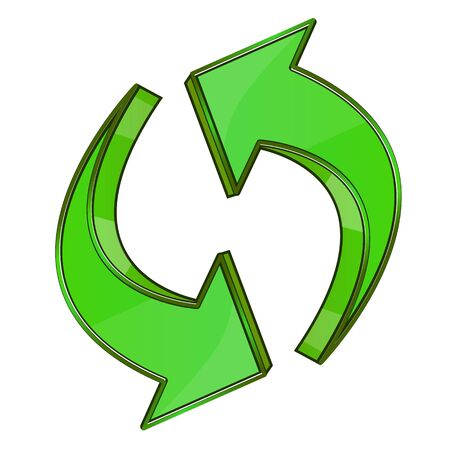 illustration of recycle arrows on white background Illustration