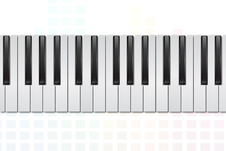 illustration of piano on white background Vector