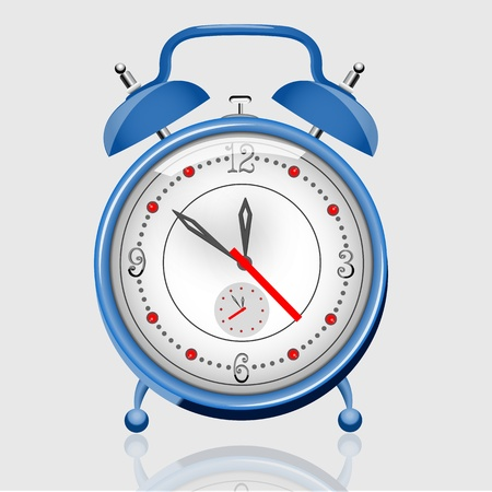 illustration of alarm clock on white background Stock Vector - 9269538