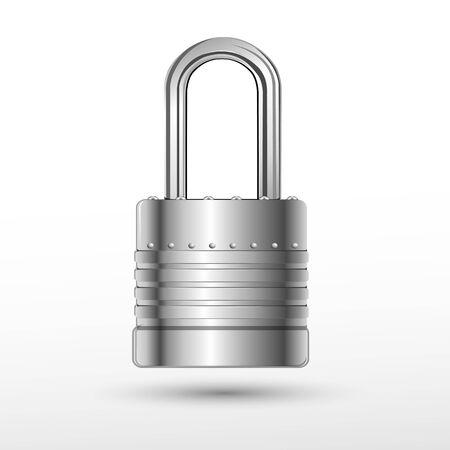 illustration of lock on white background Vector