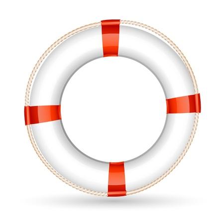 aro salvavidas: Ilustraci�n de lifebuoy sobre fondo blanco Vectores