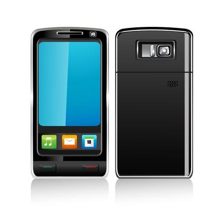 illustration of mobile phones on white background Vector
