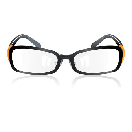 eyewear: illustration of trendy eye-wear on white background