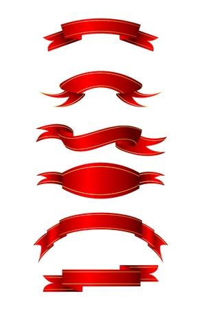 different shapes: illustrazione di forme diverse di nastri su sfondo bianco