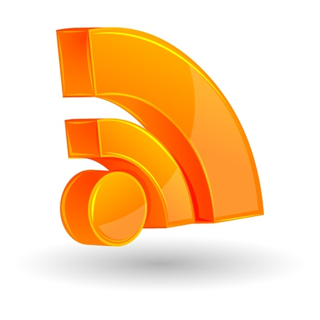 blogged: illustration of rss icon on white background