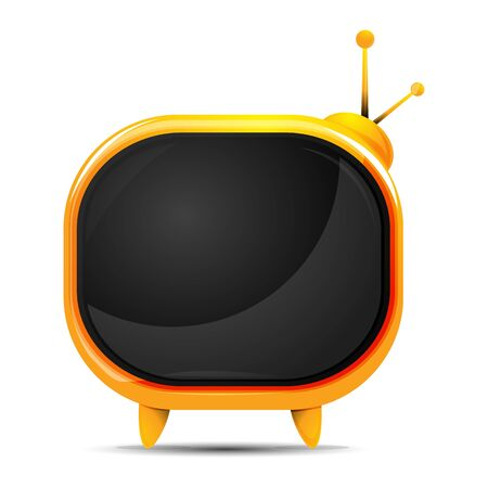 illustration of television on white background Vector