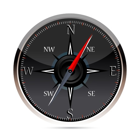 illustration of compass on white background Stock Vector - 9269352