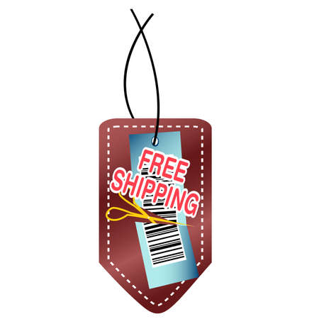 illustration of free shipping tag on white background Stock Vector - 9269257