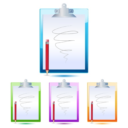 illustration of letter pad with pencil on white background Stock Vector - 9269355