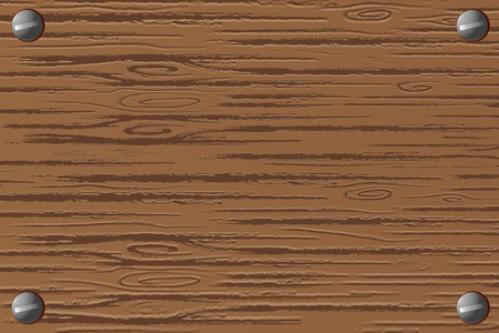 illustration of wooden board on white background Vector