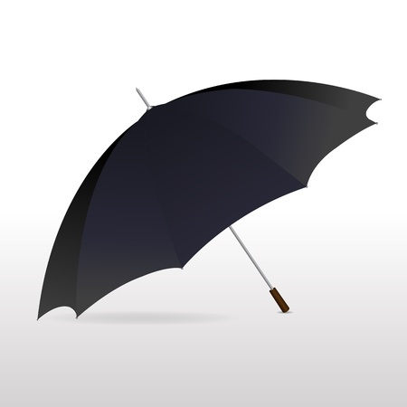 illustration of retro umbrella on white background Stock Vector - 9438475