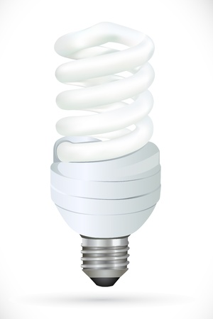 illustration of cfl on white background Vector