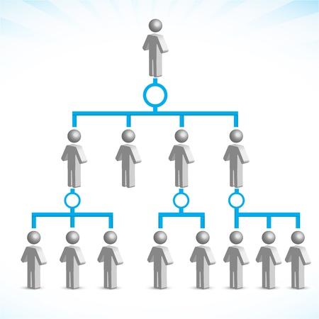 corporate social: illustrazione di networking su sfondo bianco