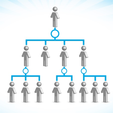 organigrama: Ilustraci�n de las redes sobre fondo blanco