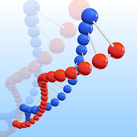 nucleic: illustration of dna on abstract background Illustration