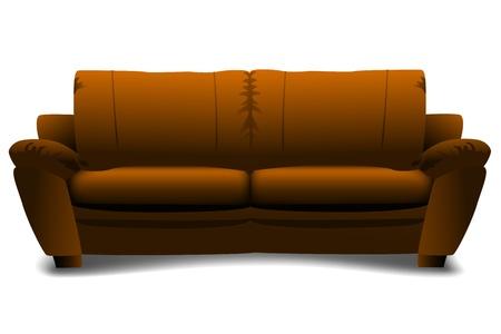 illustration of sofa on white background Vector