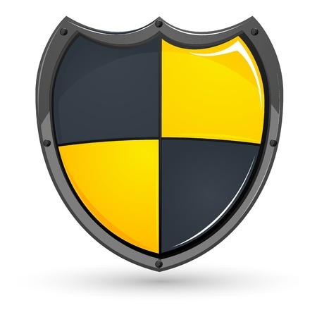 illustration of shield on white background Stock Vector - 9438426