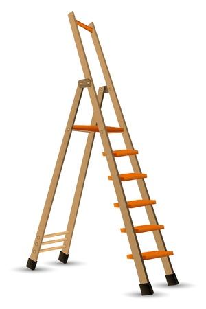 ascending: Ilustraci�n de pasos sobre fondo blanco Vectores