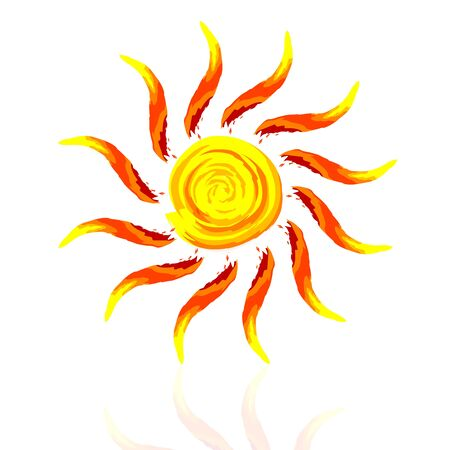 illustration of abstract sun on white background Stock Vector - 9438505