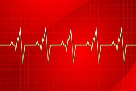 infarctus: Illustration de la cardiologie sur fond abstraite Illustration