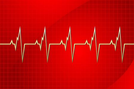 illustration of cardiology on abstract background Vector