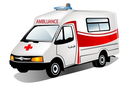 emergency vehicle: illustrazione di ambulanza Vettoriali