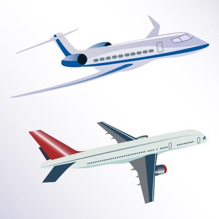 aero: illustration of aero plane on white background