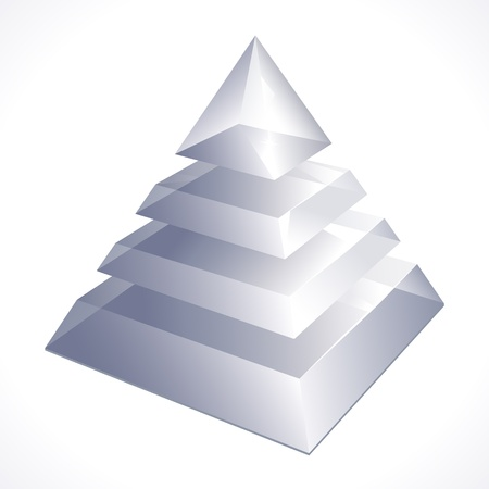 illustration of prism on white background Stock Illustratie