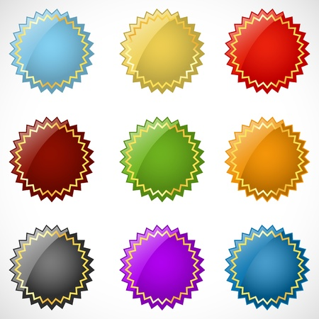 illustration of different colorful logo on white background Vector