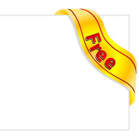 illustration of free tag on white background Stock Vector - 9438445
