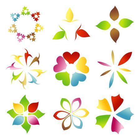 rangoli: illustration of abstract floral background Illustration