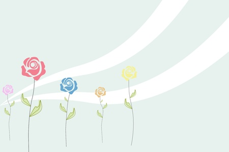 illustration of abstract floral background Vector