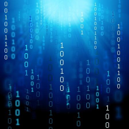 illustration of abstract binary background Standard-Bild