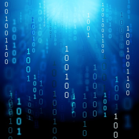 illustration of abstract binary background Foto de archivo
