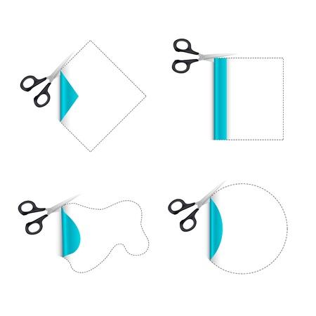 illustration of cutting paper on white background illustration