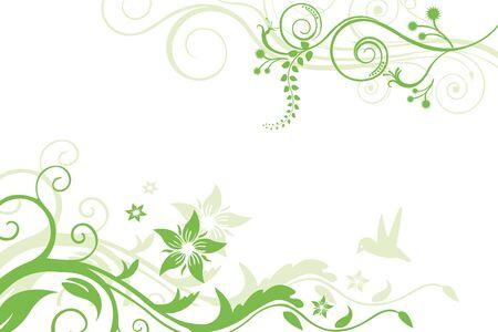 illustration of floral tree on white  background Stock Illustration - 9763115