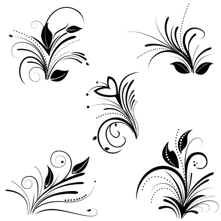 graphics design: illustration of floral background on white background