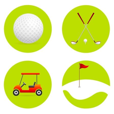 illustratie van golf elementen op een witte achtergrond Stockfoto