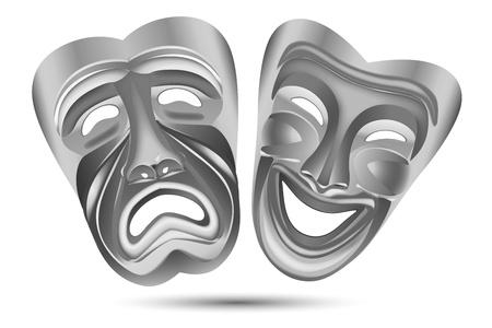 illustration of entertainment masks on white background illustration