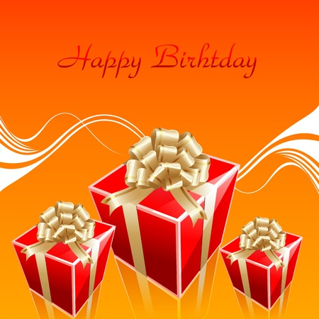 illustration of birthday card on abstract background illustration