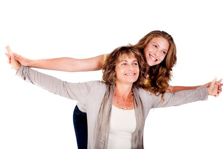 Mature mother with her daughter in studio.. Stock Photo - 9796448