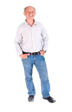 Handosme grandfather smiling at camera while posing. Stock Photo - 9796489