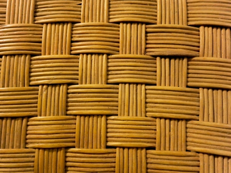 Closeup shot of a textured woven bamboo with natural pattern. photo