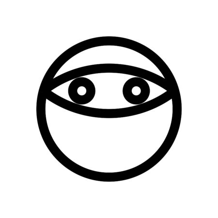マスクと絵文字  イラスト・ベクター素材